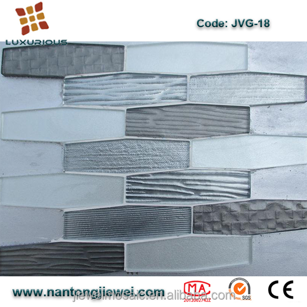 2017 most popular dark style random strip mosaic tile For Steam Bath