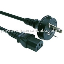 Australia or New Zealand Computer Power Cables D plug (Three) (AS/NZ standard SAA approval)