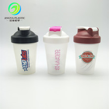 400ml bpa free shaker cup plastic protein shaker bottle with stainless steel ball