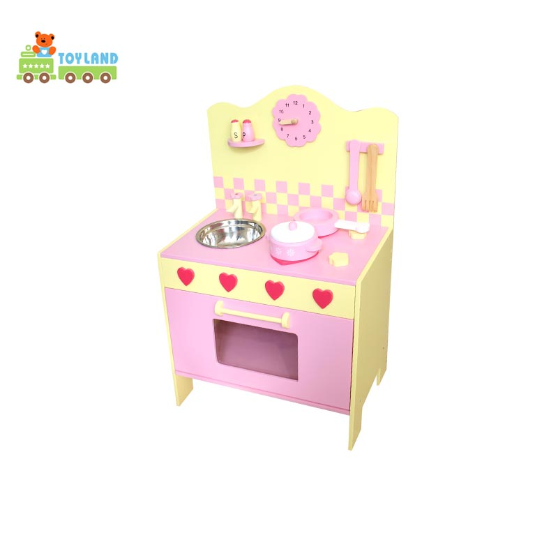 Full Size Solid Panel Wooden Big Kitchen Set Toy