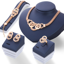 Wholesale High Quality Wedding Jewelry Sets 18k Plated Necklace and Earring Set Jewelry
