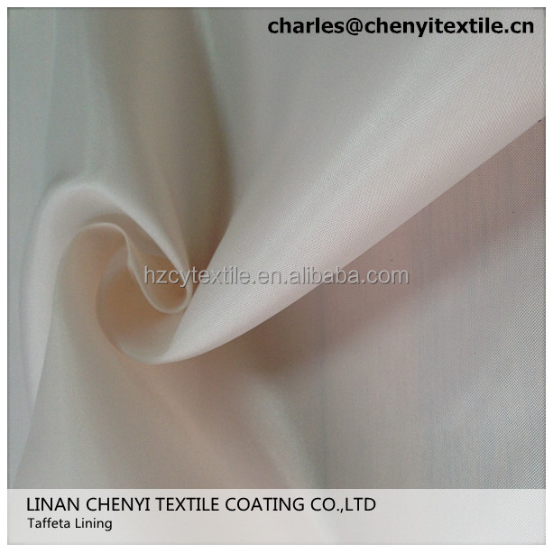 100% polyester printed bag lining taffeta fabric