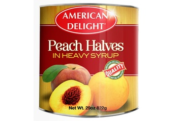 American Delight Canned Peach Halves