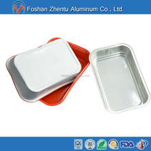 ASIA AIRLINE LFGB color coated smoothwall takeaway rectangular aluminum foil airline food container/ food tray