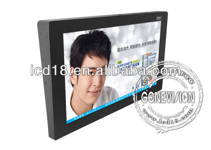 15 inch public bus lcd advertising totem touch screen control displayer