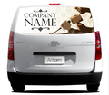vehicle graphics rear window one way vision stickers