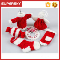 K787 free crochet doily pattern christmas hanging crochet toys for baby
