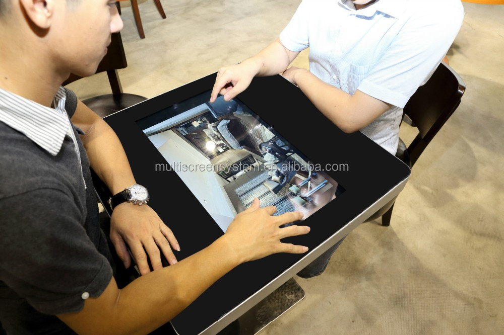 EKAA modern office table, electronic negotiation table, touch screen interactive kiosk conference desk with android panel pc