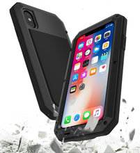 3 in 1 Premium Aerial Aluminum Alloy Silicone Shockproof Heavy Duty Cover Phone Case