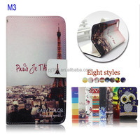 Wholesale Printed Stand Wallet Flip Leather Case Cover for Xiaomi Mi3