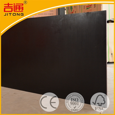 18mm black film faced plywood with finger jointed core