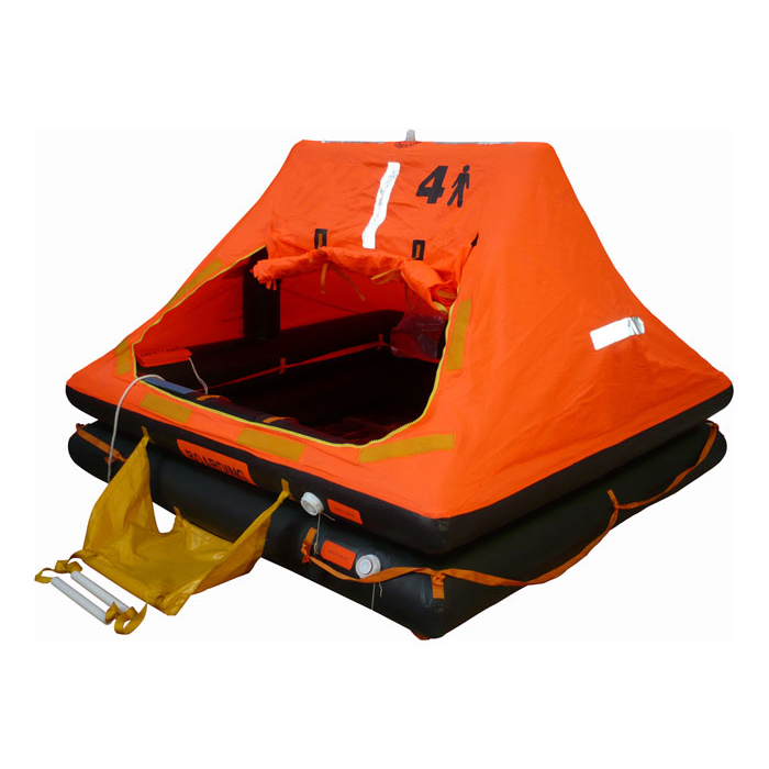 solas approved inflatable 4 person life raft