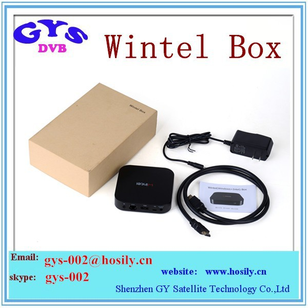Win box 2GB RAM 32GB ROM Intel Atom Z3735F inside 1.83GHz Win 8.1 tv box Bluetooth 4.0 37-4I Wintel tv box
