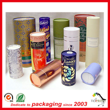 round box wholesale paper package tube transport PVC window on lid paper can/paper cylinder shaped tube packaging