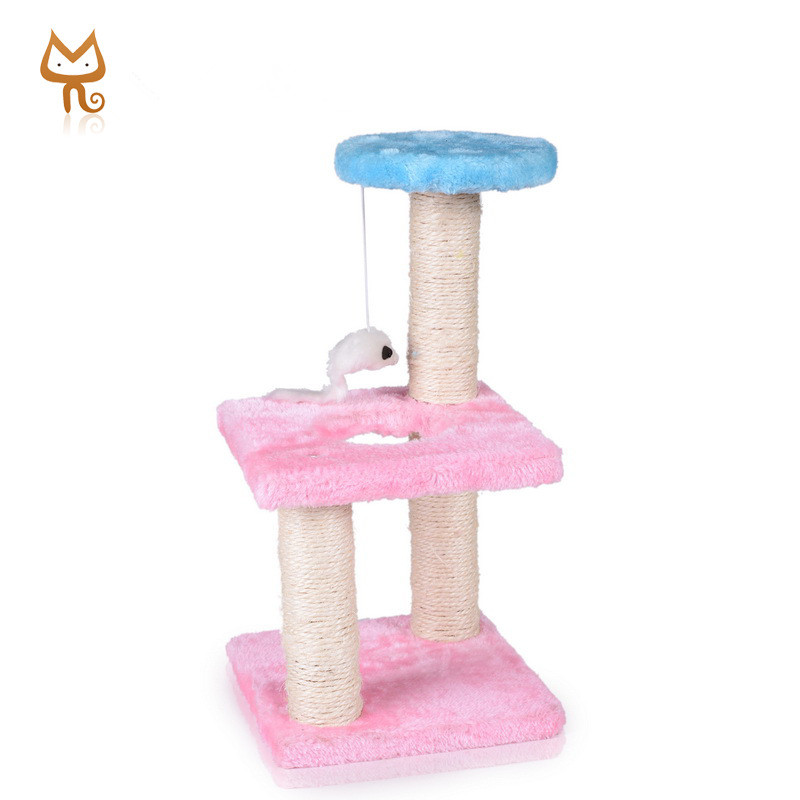 Hot selling Custom soft scratcher sisal scratching post simple cat tree