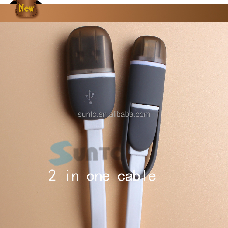 fashional new product salable cellphone 2 in 1 power bank wire