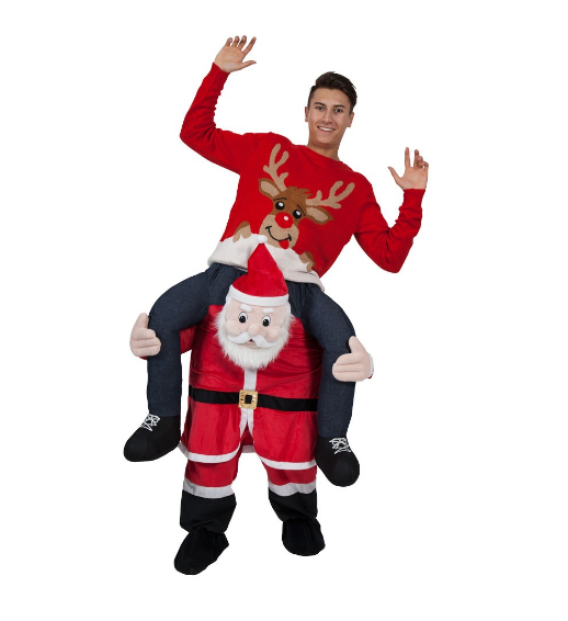 Christmas snowman carry me costume for adults ride on costumes for adults