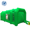 Free shipping green color 6m portable inflatable car paint booth