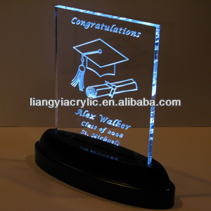 wholesale souvenir led light bases for acrylic for students