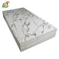 New building material hotel decoration pvc artificial marble Wall Sheet faux stone marble pvc panel