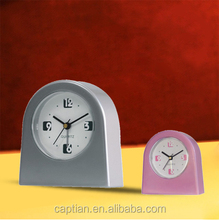 mini colorful gift chime marble pearl table promotion alarm clock oem