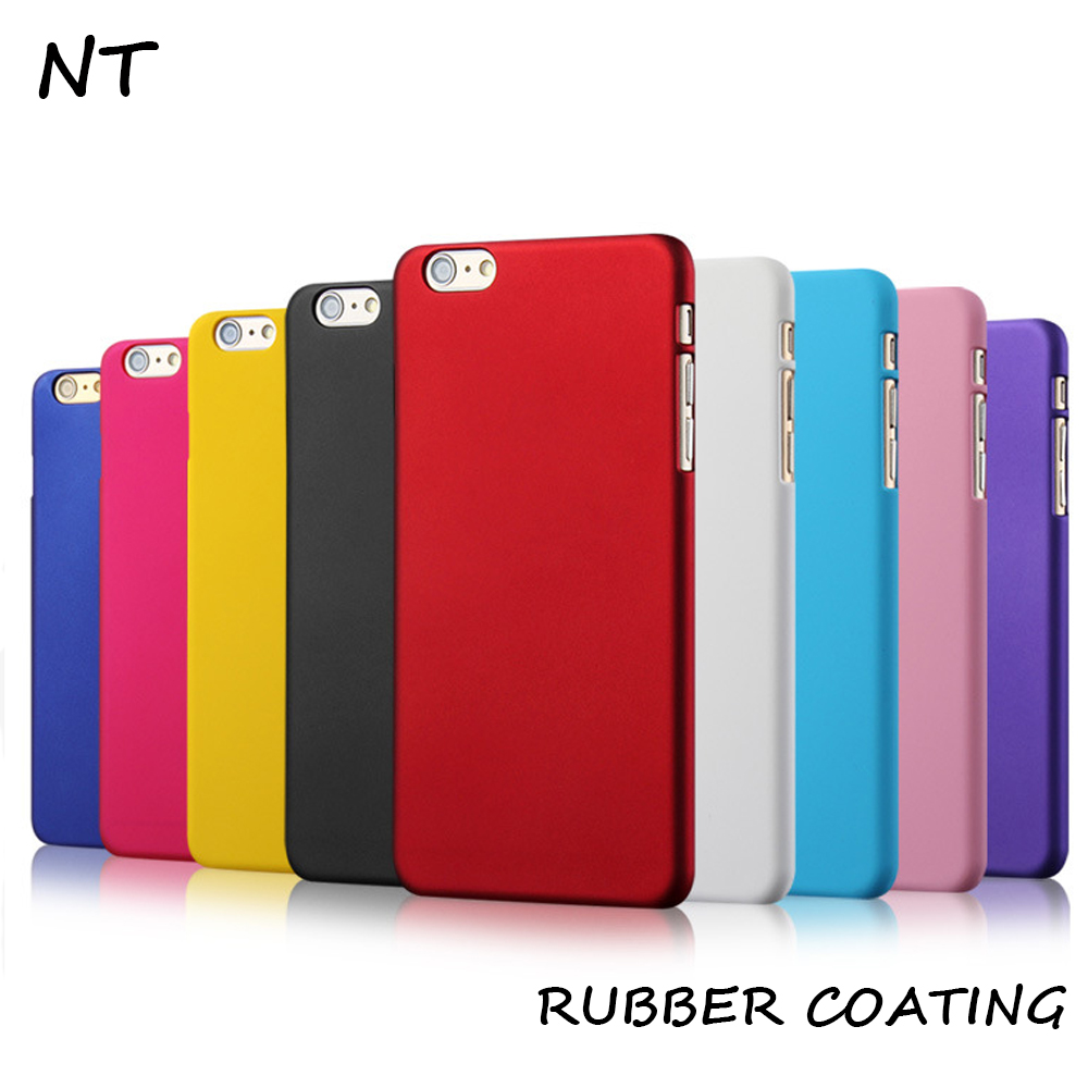 For iphone 6 rubber costing plastic PC printable phone case cover
