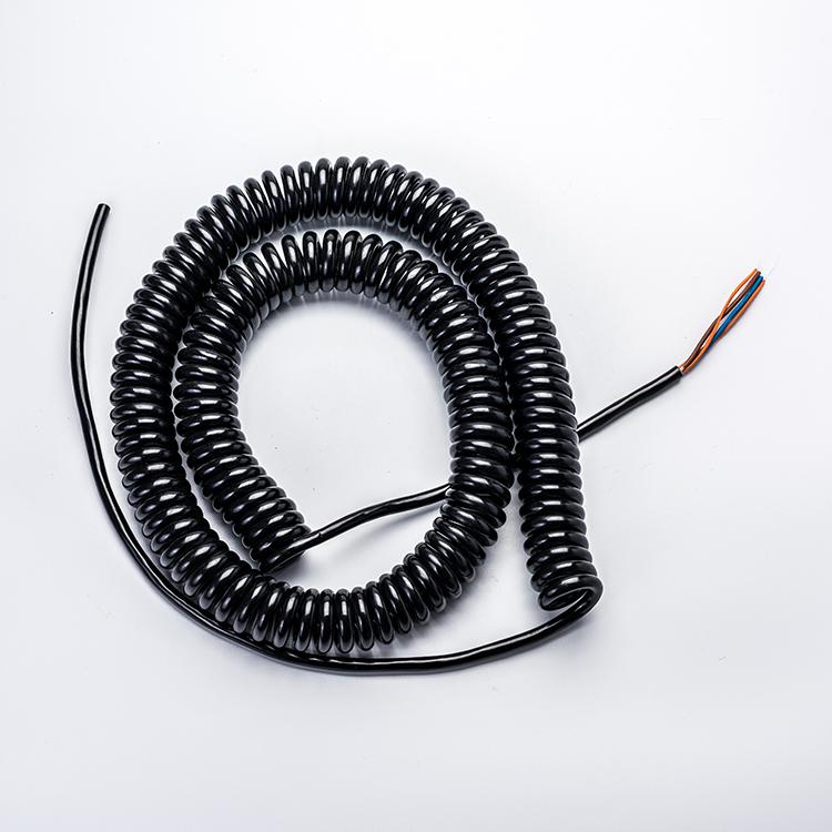 2 Core 3 Core 4 Core 5 Core 6 Core 7 Core Pvc/pu Spiral Cable,Spiral ...
