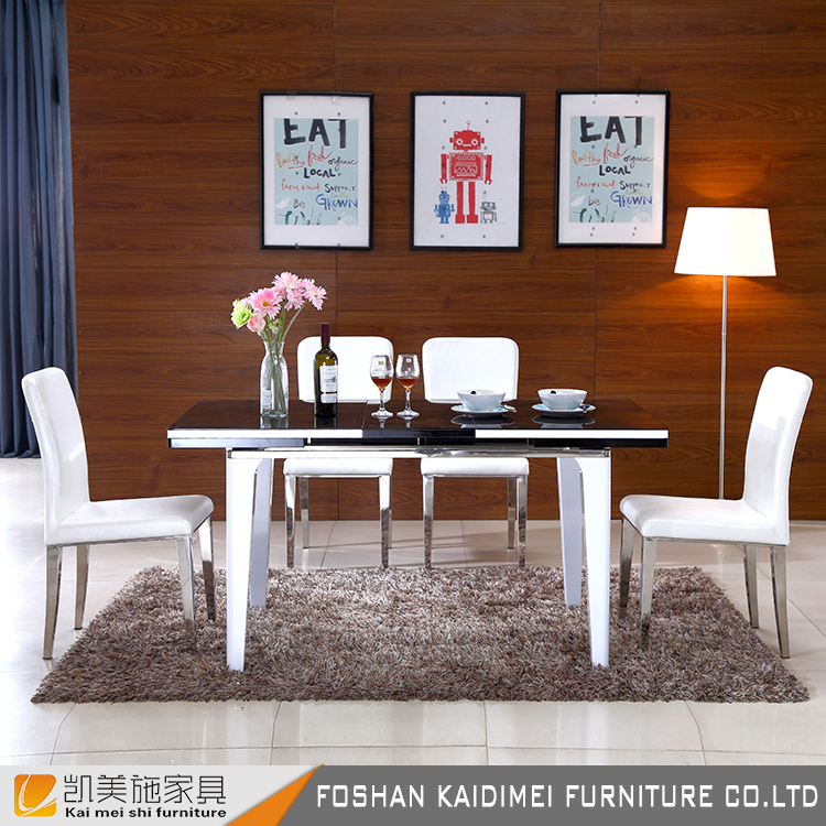Wholesale cheap tempered glass dining table and chair