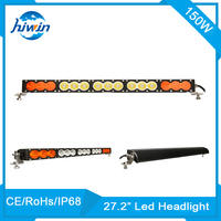 150W 12750LM 27.2inch waterproof double color offroad 4*4 led light bar