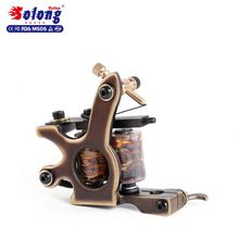 Solong Custom Tattoo Machine Gun 10 Wraps Pure Copper Coils for Shader top quality coil tattoo machine
