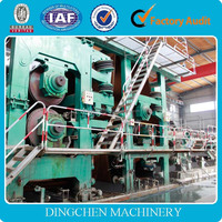 HOT SALE kraft paper making machine, 30 T/D, 2400mm waste paper, bagasse, wood, bamboo, rice straw