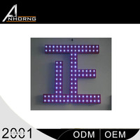 led alphabet letters punching quotation price sample signs advertising