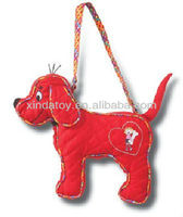 Red dog shaped plush purse 1
