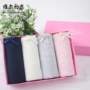 wholesale factory 100% cotton antibacterial fashion lady underwear women panties