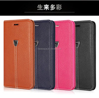 XUNDO Patent Luxury Magnetic Flip Leather Case Wallet Holder With Stand Function For iPhone 6 / iPhone 6 Plus Protect Case
