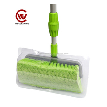 Plastic head protected soft car brush cleaning interior/car window brush