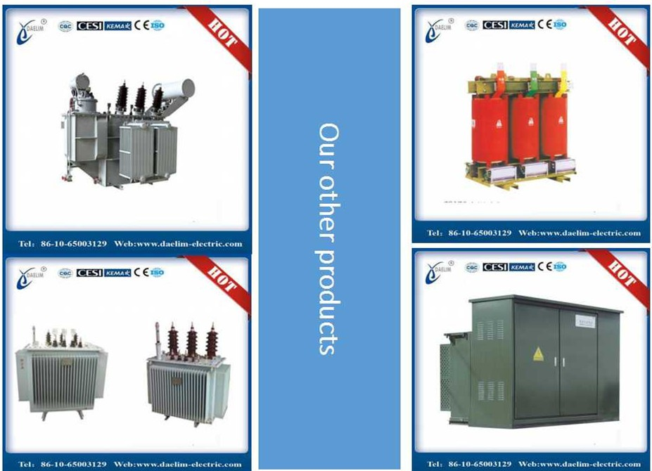 10.5kv 1000kva Amorphous Metal Distribution Transformer with Iron Core
