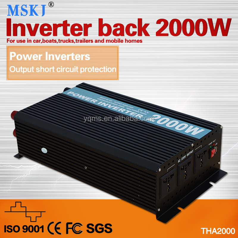 2000W inverter DC/AC power from battery to run lamps radios Tvs and protects battery from damage due to overload power inverter