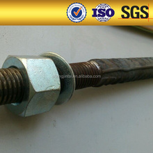 prices of steel thread bar mini piles for slab support