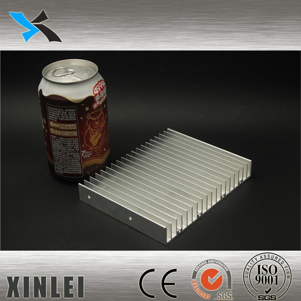 Customized aluminum extrusion profile heat sink with natural anodizing