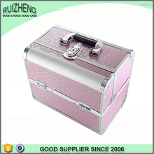 Hot beauty case hard toiletry bag makeup box aluminum fashion handbag
