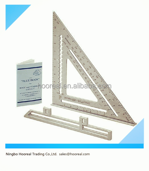 "Aluminum Alloy Speed Square 7"" Combination Carpenter's Protractor Miter Framing Triangle Ruler/Speed Square"