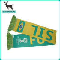 Brazil football team world cup knit scarf