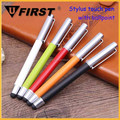 Top Popular ultrafine smooth ballpoint Touch Stylus Pen with clip for smartphone