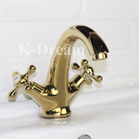 Brass water mixer hot sale temperature control Polished water faucet