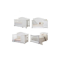 Lastest Design Furniture For Baby Wooden Good Quality Convertible Crib
