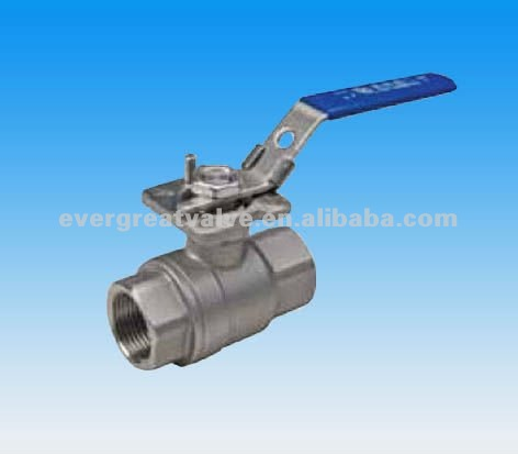 2-PC BALL VALVES, 1000 W.O.G, FULL PORT, ISO 5211 MOUNTING PAD