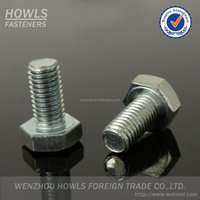 Standard carbon steel ZP din933 and din931 hex head bolt