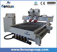 Hot!!!Two heads wood work cnc router/metal /copper/aluminium engraving cnc machine FS1325-2H
