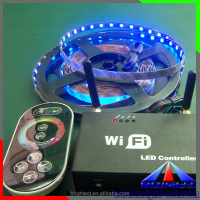 High quality 5-24V RGB led strip Wifi controller with remote controller